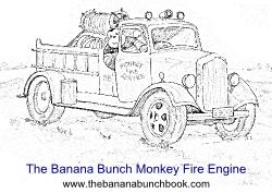 The Banana Bunch Monkey Fire Engine sml