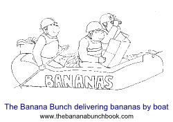 The Banana Bunch delivering bananas by boat sml